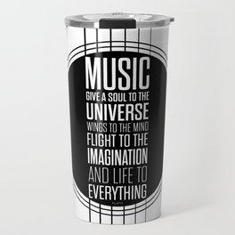Lab No. 4 - Plato philosopher Inspirational Music Quotes  poster Travel Mug