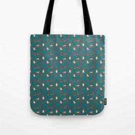 Bear Tumbles blue pattern Tote Bag