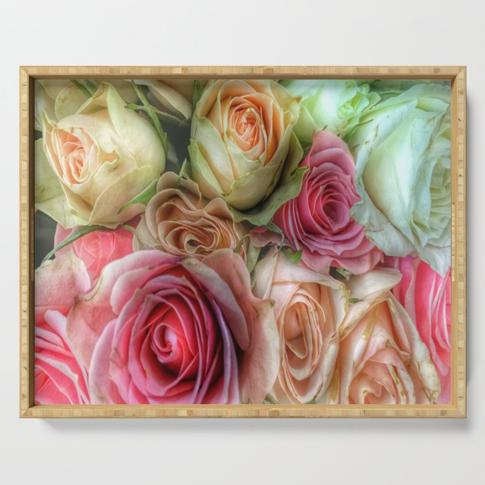 Roses - Pink and Cream Serving Tray