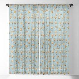 Naughty Birds and a Potato Sheer Curtain