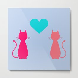Love Wins ~ Girl Cats Metal Print
