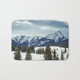 Rocky Mountains Bath Mat