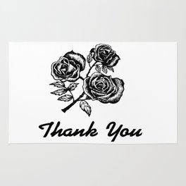 Thank You Roses Rug