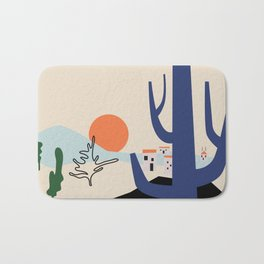 Morning in the valley Bath Mat
