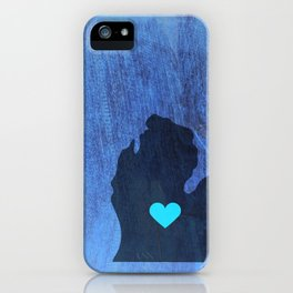 Mid Michigan Heart iPhone Case