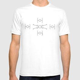 Geometric Minimal StarWars Pattern T-shirt