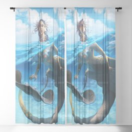 Ray Mermaid Sheer Curtain