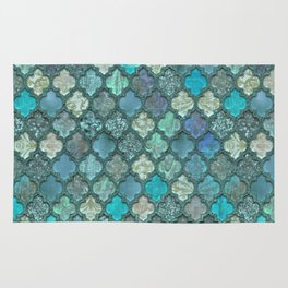 Moroccan Inspired Precious Tile Pattern Rug