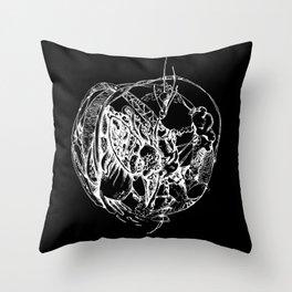Heart of Chaos negative Throw Pillow