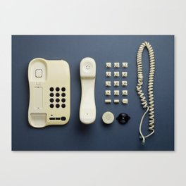 Parts of vintage home telephone Canvas Print