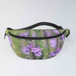 LOOSESTRIFE purple invasive wildflower abstract design Fanny Pack
