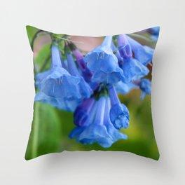 Pop of Blue Throw Pillow