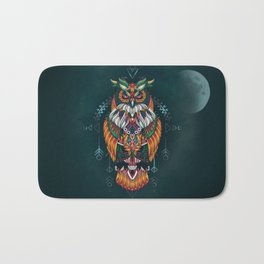 Wisdom Of The Owl King Bath Mat