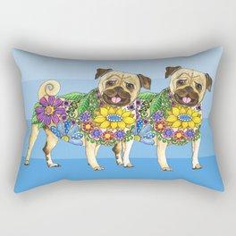 Pug Pals Rectangular Pillow