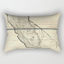 Vintage Map of California Rectangular Pillow