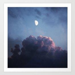 EVENING DREAM - BLUE Art Print