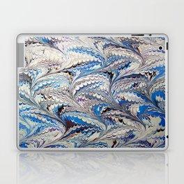 Blue Nonpareil Water Marbling Laptop & iPad Skin