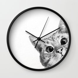 sneaky cat Wall Clock