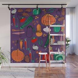 fall veggies purple Wall Mural
