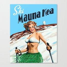 Ski Mauna Kea Canvas Print
