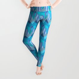 ZigZag All Day - Blue Leggings