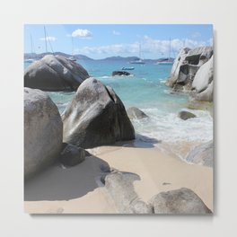 Scenic Beach at The Baths on Virgin Gorda, BVI Metal Print