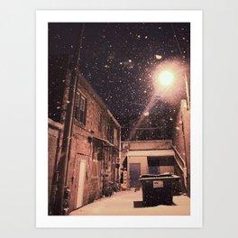 Blizzard At Photography Studio Art Print