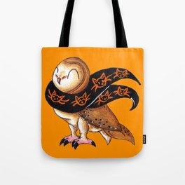 Happy Owl-o-Ween (Barn Owl) Tote Bag