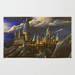 Hogwarts at Starry night Rug