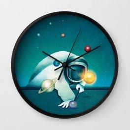 Astronaut Billards Wall Clock