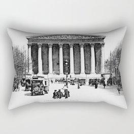 Vintage antique Paris Rue Royale Madeleine church Rectangular Pillow