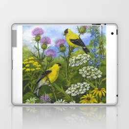 Goldfinches and Thistle Laptop & iPad Skin