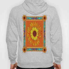 Southwestern Sun Flowers Abstract Design Hoody