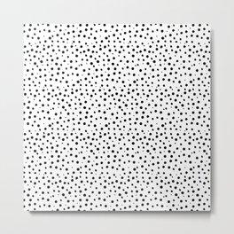 Tiny Doodle Dots Metal Print