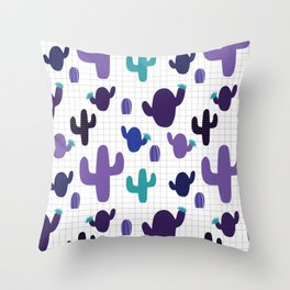 Cactus purple #homedecor Throw Pillow