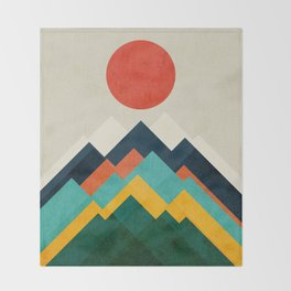The hills are alive Throw Blanket