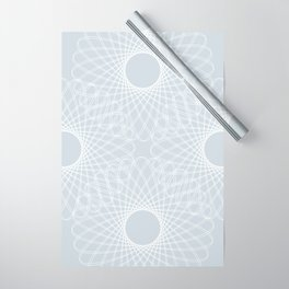 mathematical rotating roses - ice gray Wrapping Paper