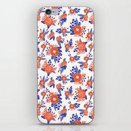 Florida floral orange and blue gators swamp varsity minimal university sports football fan iPhone Skin