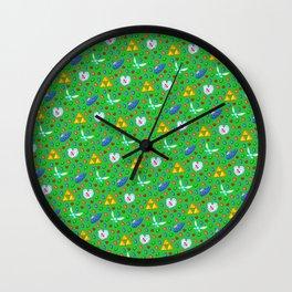 Ocarina of Time Pattern / Legend of Zelda Wall Clock