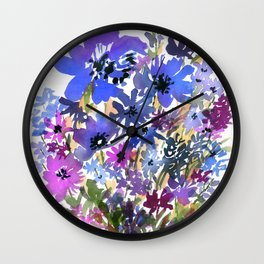 Heavenly Blues and Purples Wall Clock