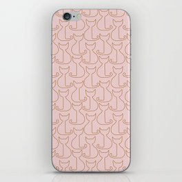 Cats pattern iPhone Skin