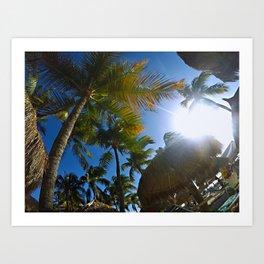 sunny tropical beach Art Print