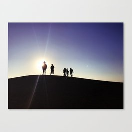 Sunset Silhouette Gang Canvas Print