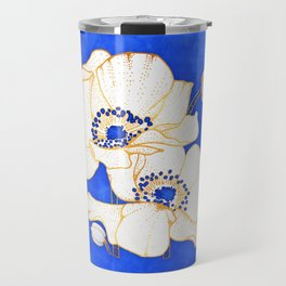 Ultramarine Blue :: Anemones Travel Mug