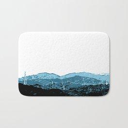 Powerlines in Japan - minimalist mountains Bath Mat
