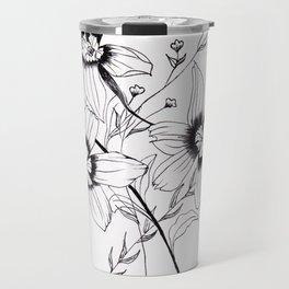 ' FLORAL ' flower drawing Travel Mug