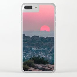 Otherworldly sunrise of Hampi, India Clear iPhone Case