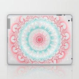 Teal & Coral Glow Medallion Laptop & iPad Skin