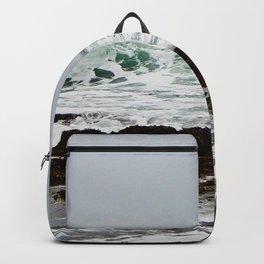 Green Wave Breaking Backpack
