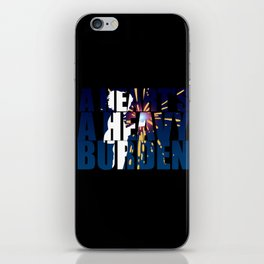 A heart is a heavy burden iPhone Skin